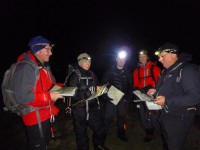 Night navigation course in the Derbyshire Peak District